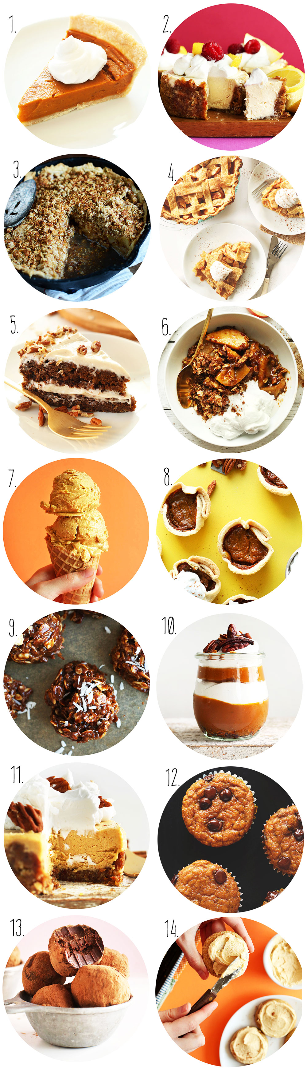 Collection of photos of vegan Thanksgiving Dessert ideas