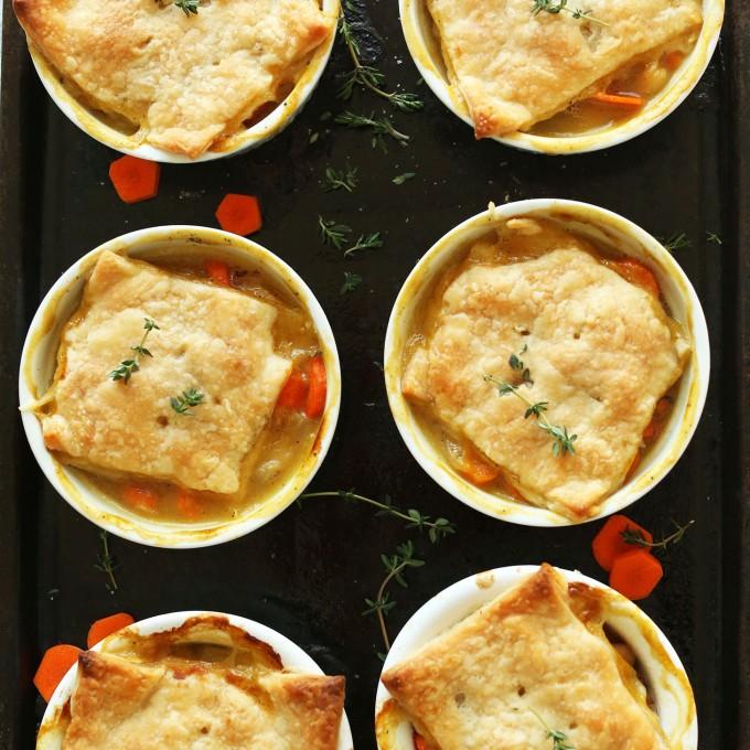 Thyme & White Bean Pot Pies