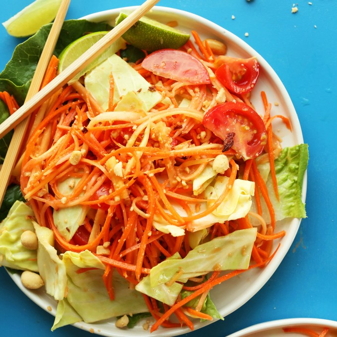 Vegan Papaya Salad