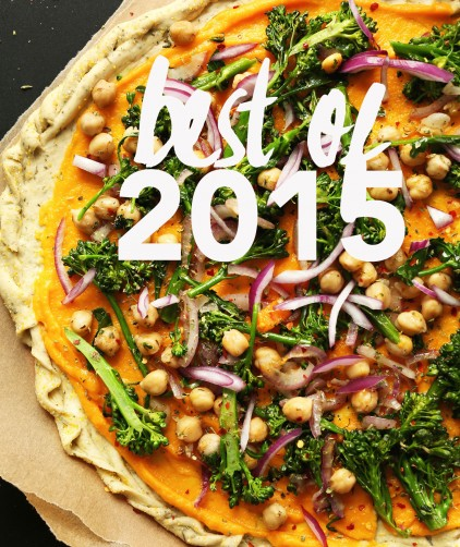 Pizza photo overlaid with text for our Best of 2015 post
