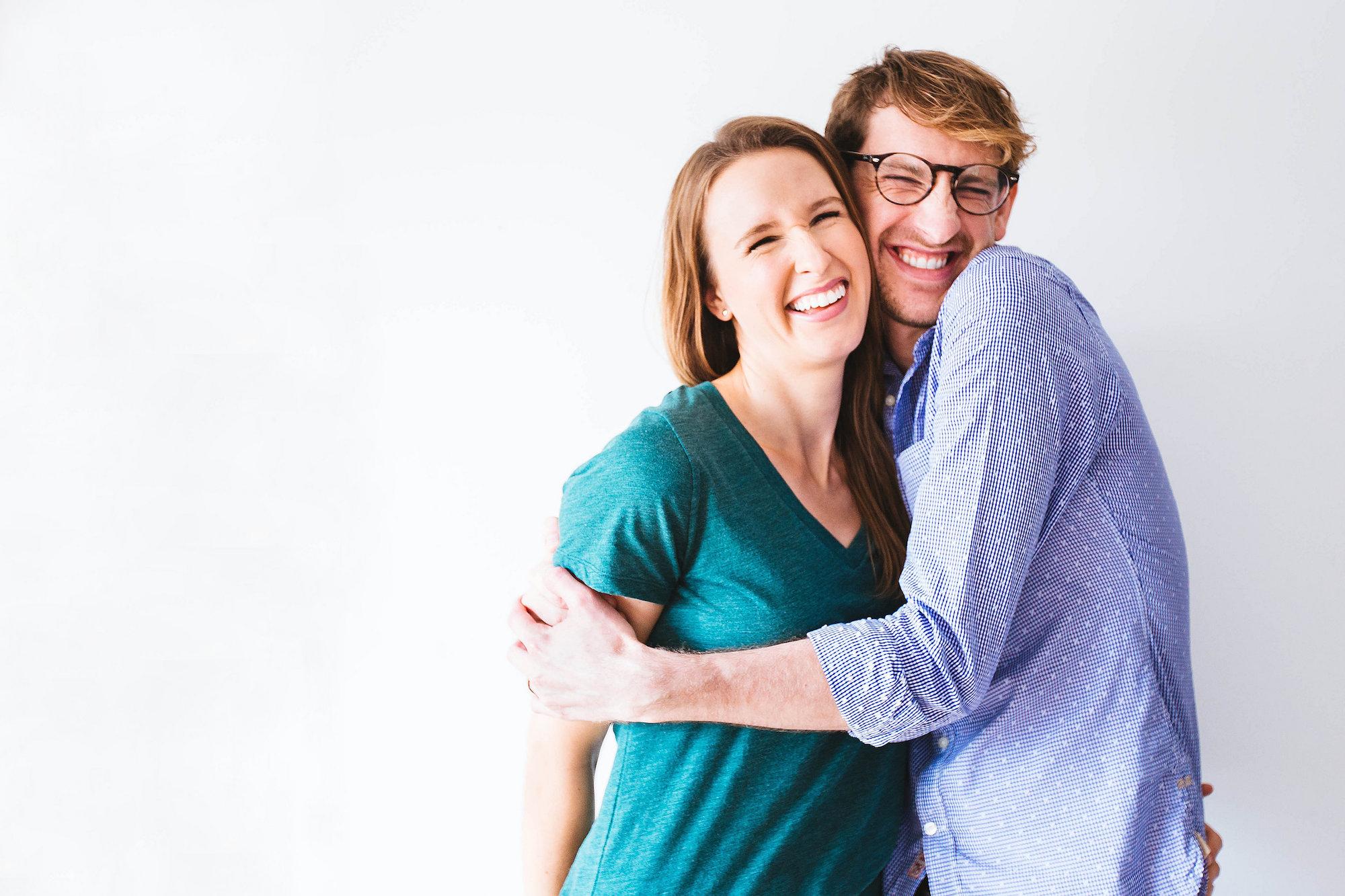Photo of John and Dana hugging