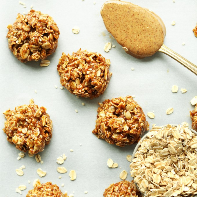 Almond Butter No-Bake Cookies