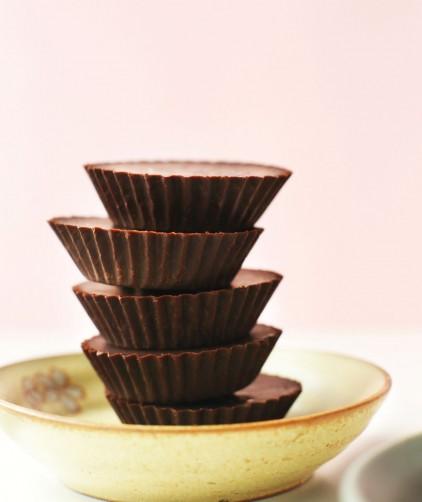 Stack of easy homemade vegan chocolates