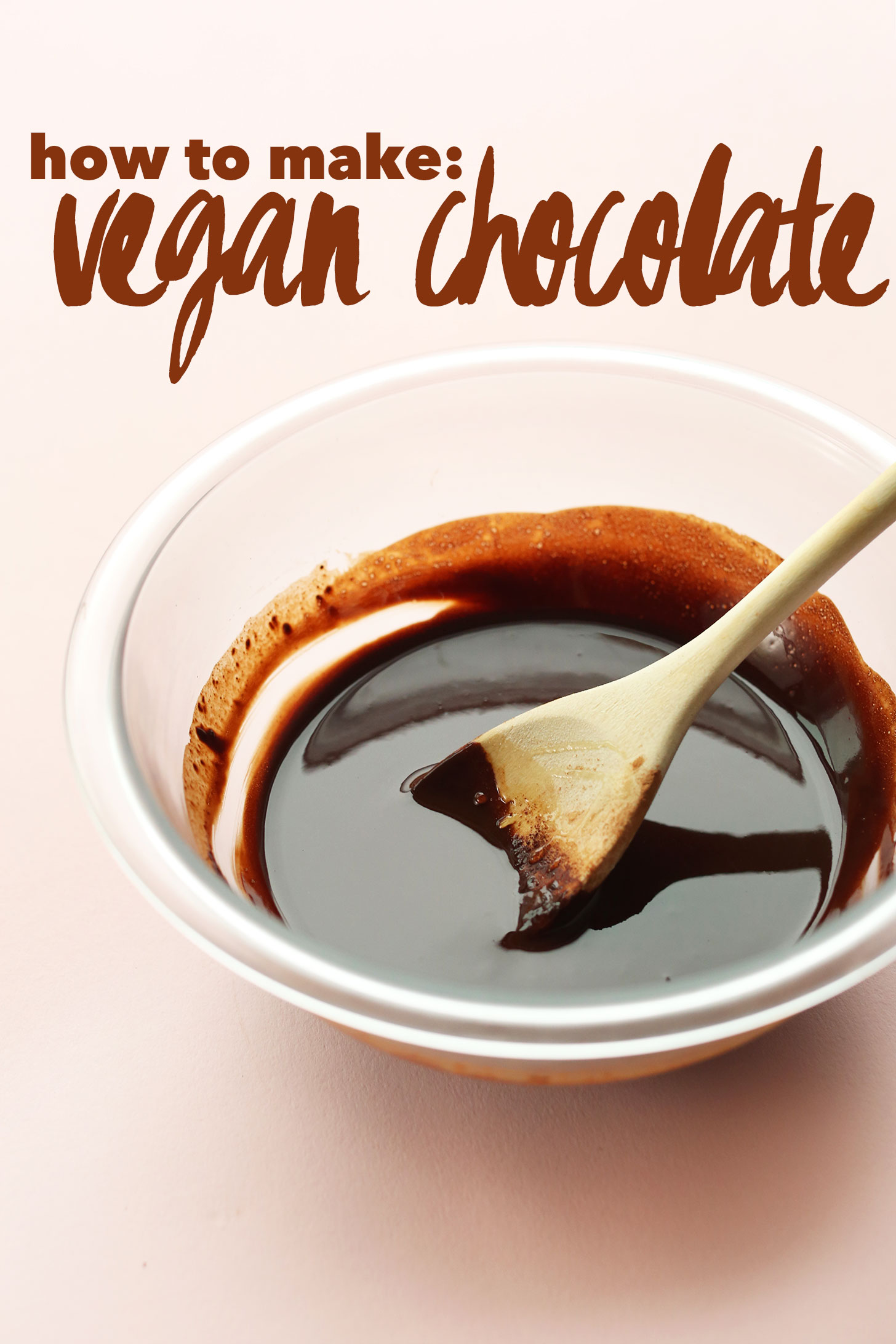 Bowl of our creamy and smooth homemade vegan chocoalte