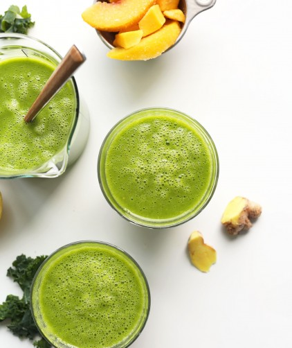 Mango Ginger Kale Green Smoothie