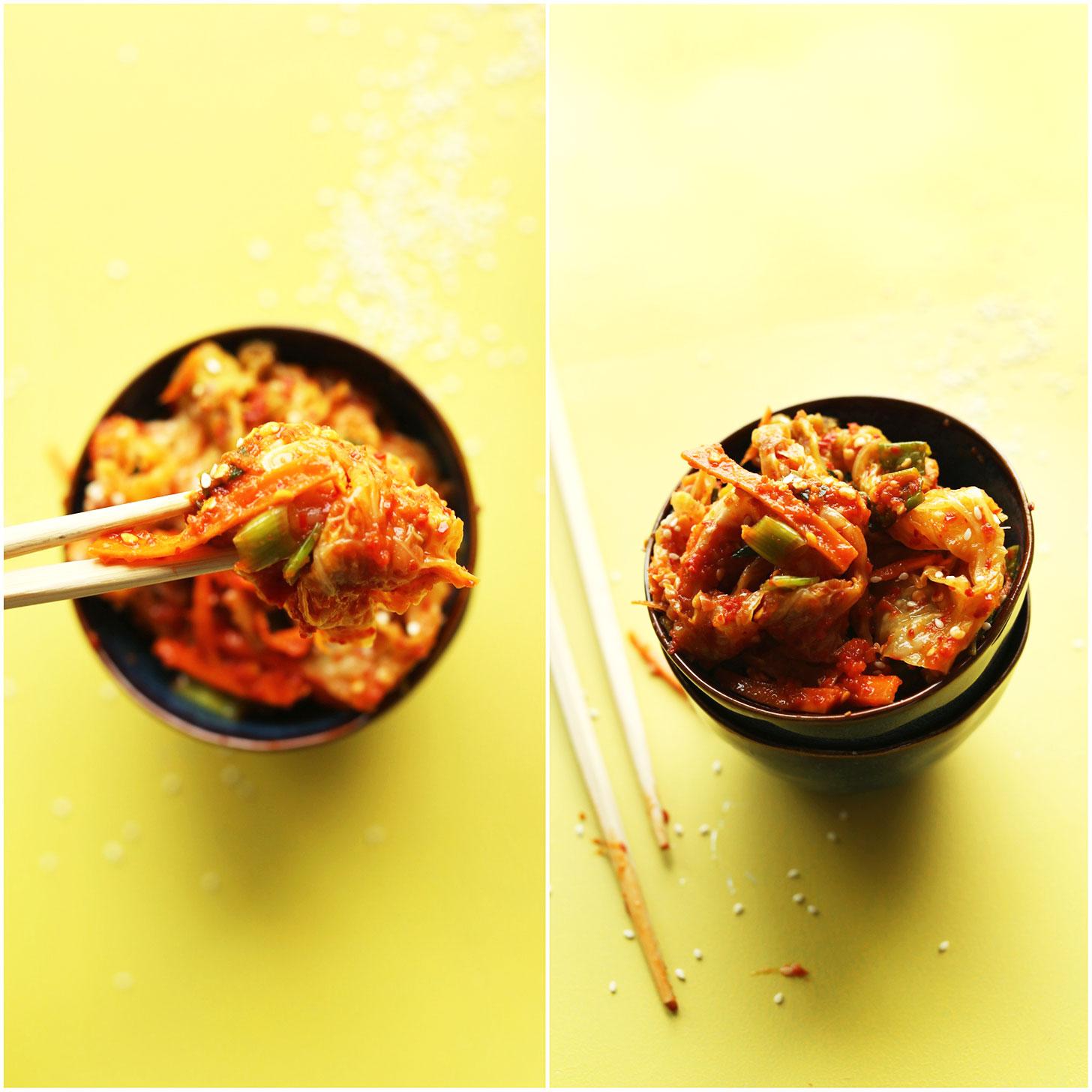AMAZING Vegan Kimchi! 10 ingredients, crunchy, spicy, DELICIOUS! #vegan #kimchi #glutenfree #recipe #minimalistbaker