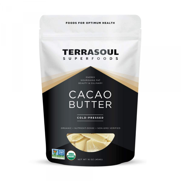 Our favorite cacao butter for homemade chocolate bars and baking