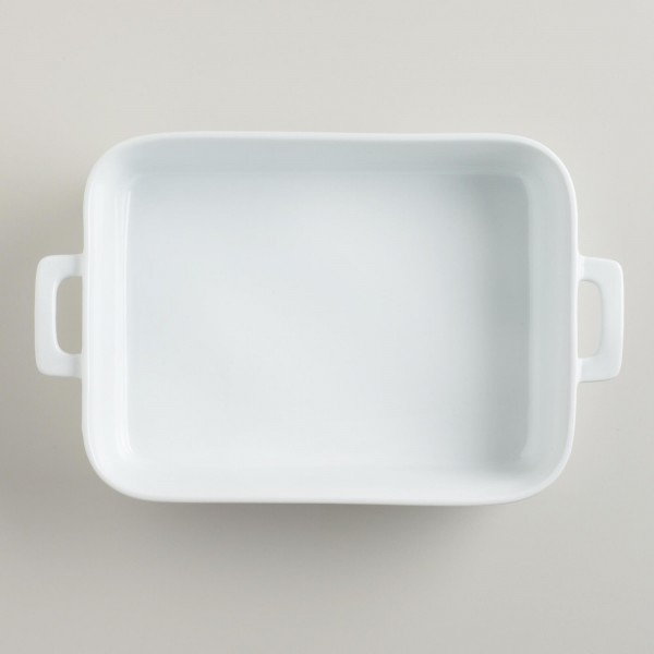 Our favorite large baking dish for casseroles and crisps