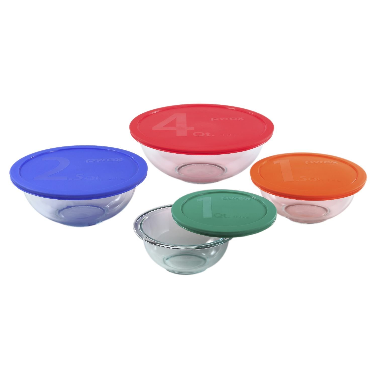 Our favorite glass mixing bowl set