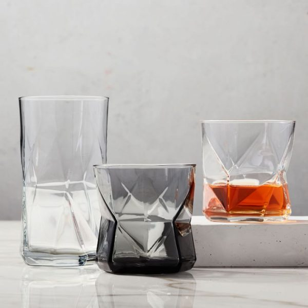Our favorite geometric short drinking glasses