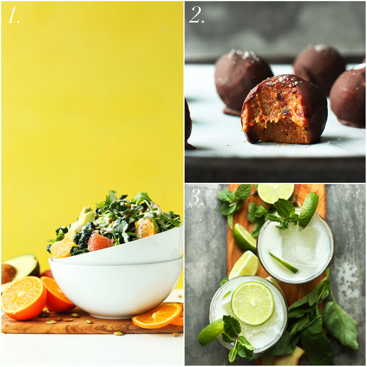 Three recipe photos for free with Everyday Cooking cookbook purchase