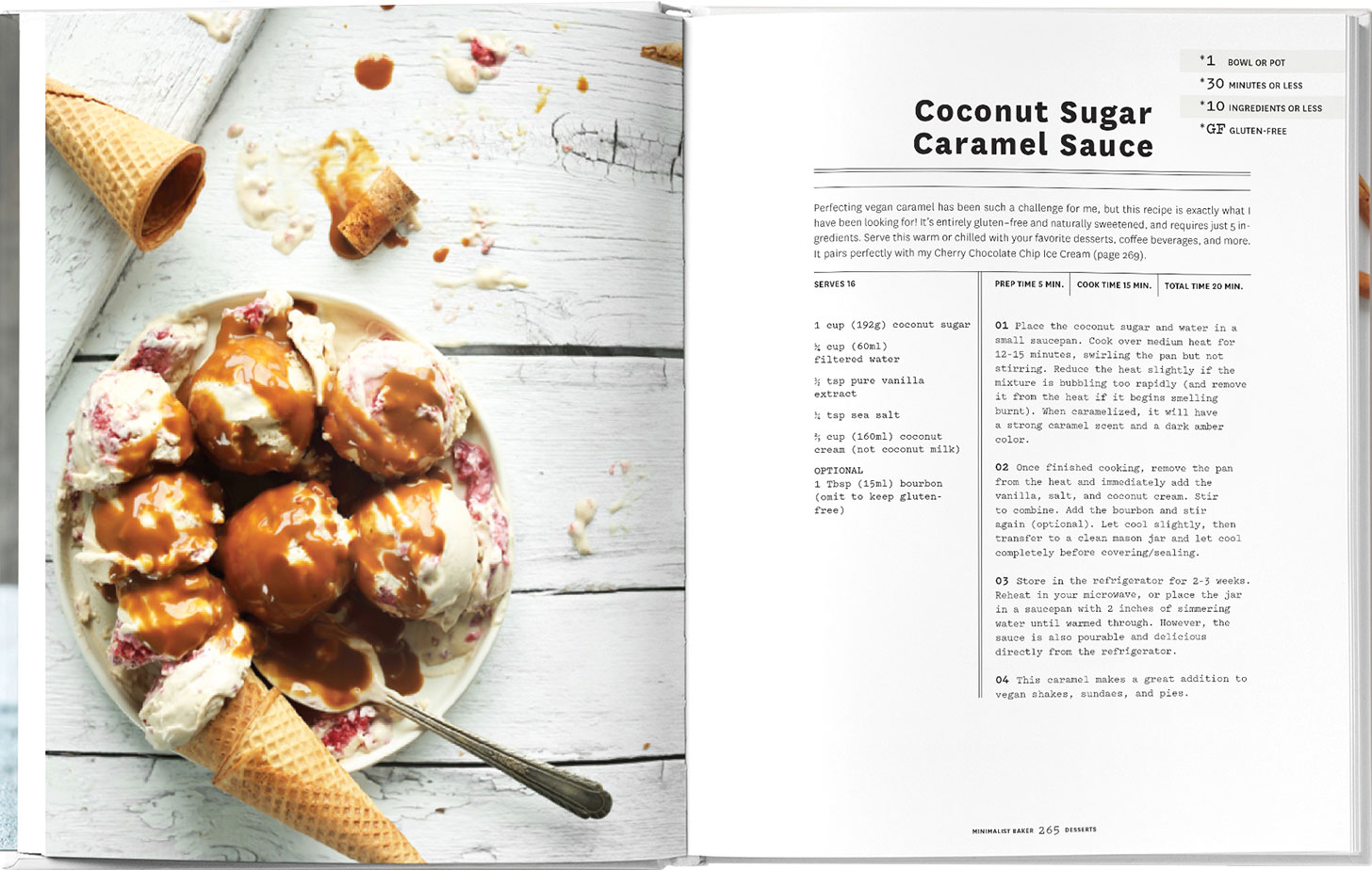 Photo of Coconut Sugar Caramel Sauce from the Minimalist Baker Everyday Cooking Cookbook