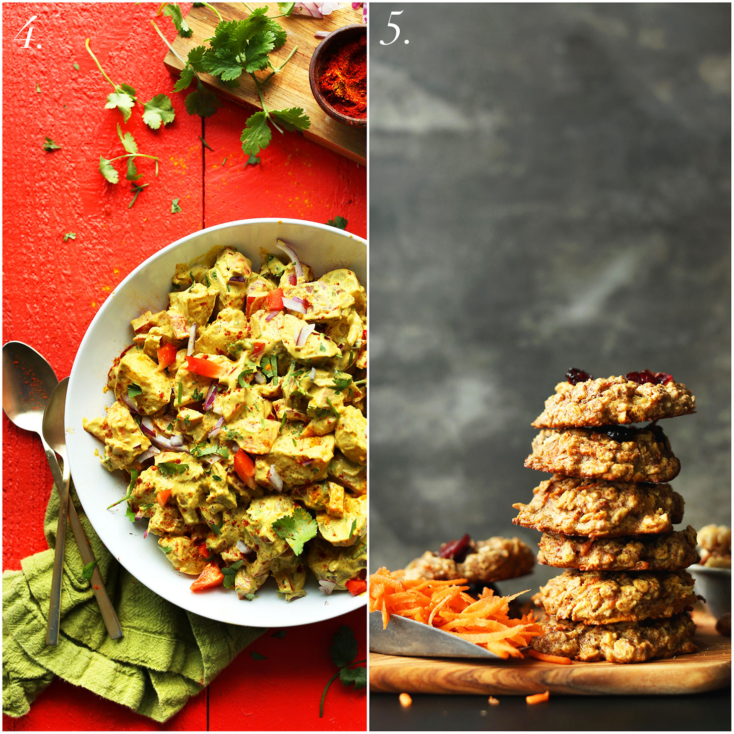 Two recipes included in our free recipe bundle that comes with Everyday Cooking