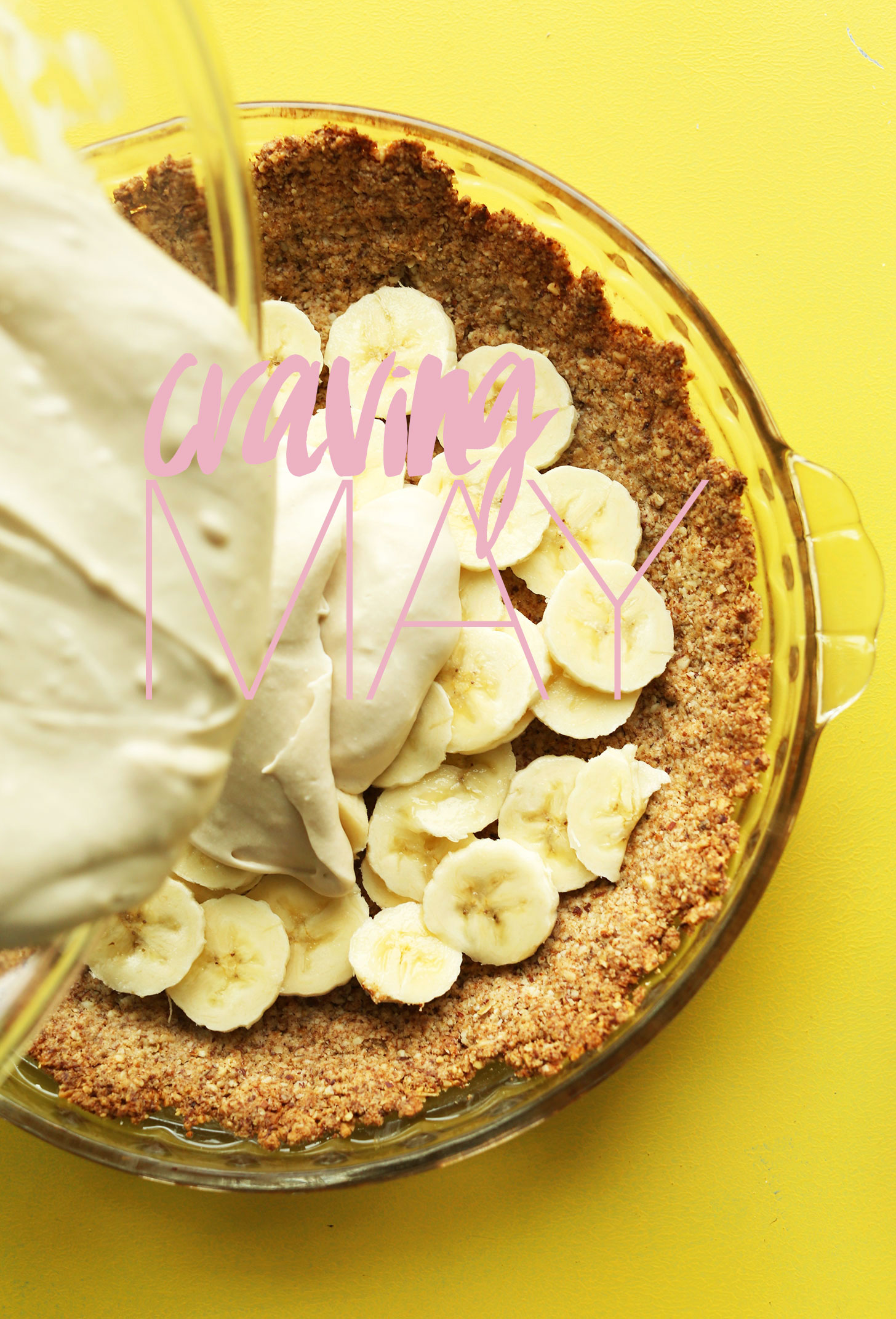 Photo of making Banana Cream Pie for a recipe post releasing in May