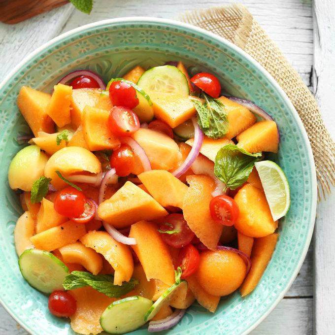 Summer Tomato & Cantaloupe Salad