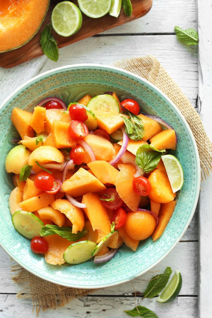 Summer Tomato Amp Cantaloupe Salad Recipe