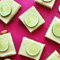Squares of our delicious Key Lime Pie Bars recipe