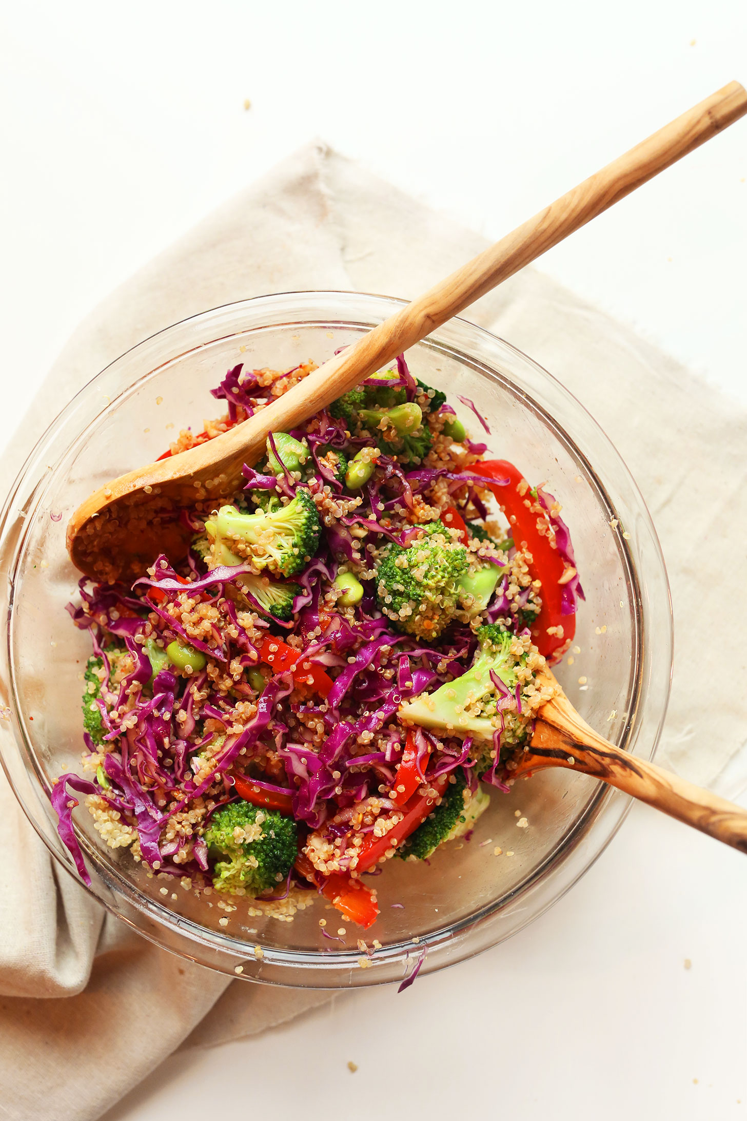 Bowl of our gluten-free vegan Asian Inspired Quinoa Salad Recipe