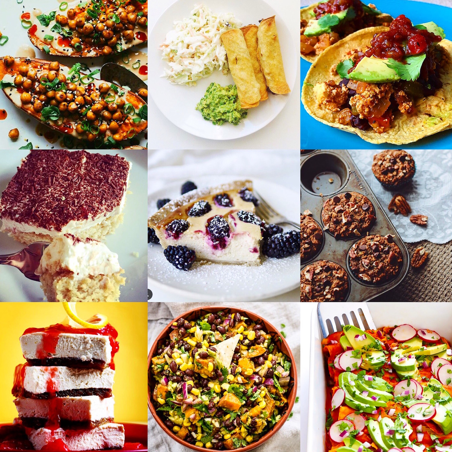 Collection of recipe photos featured in our Best of June blog post