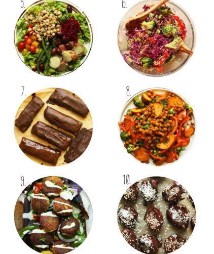 Assortment of recipe photos for our Best of July post