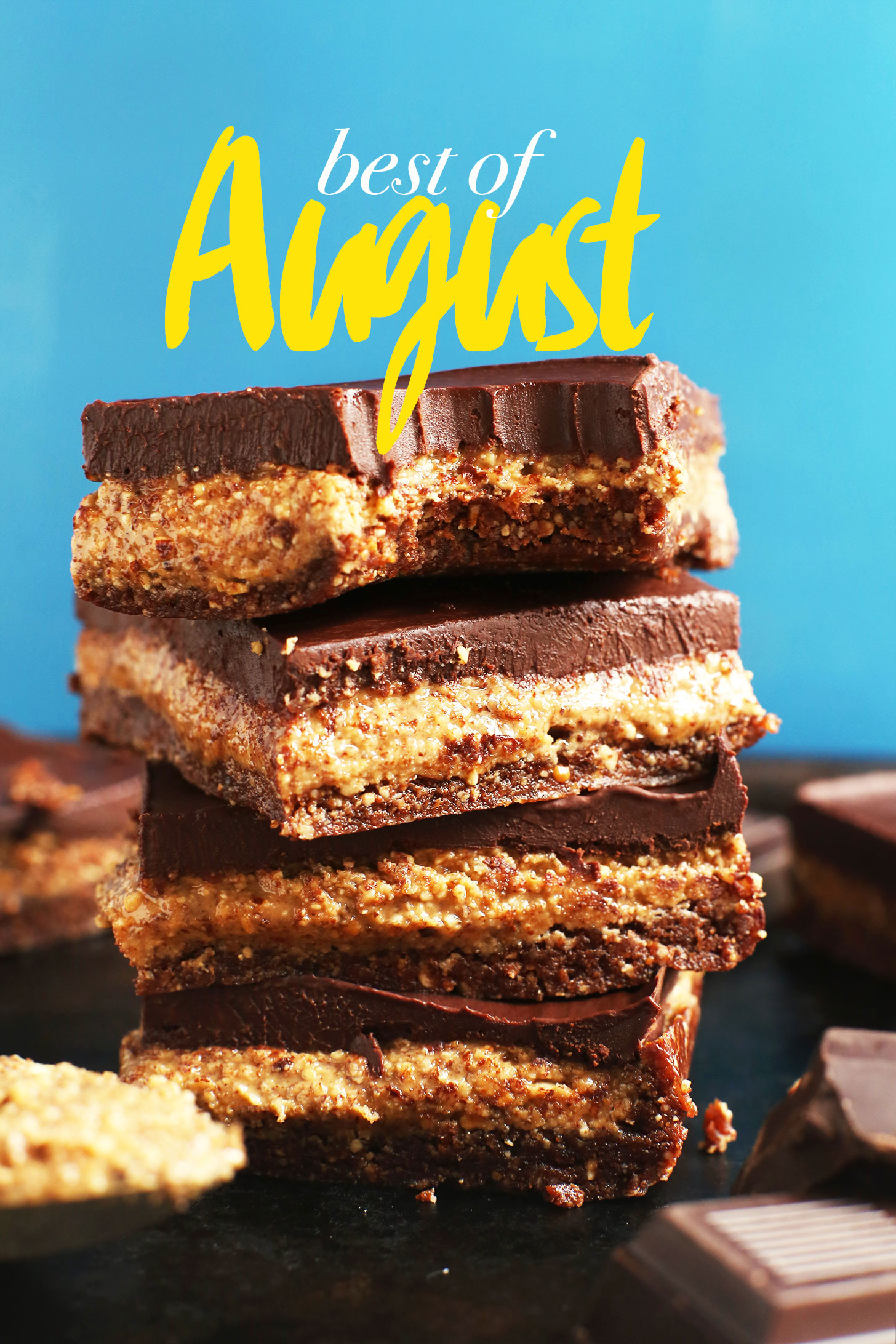 Stack of gluten-free vegan dessert for our Best of August recipe roundup