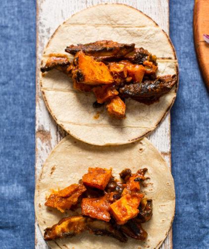 Saucy Portobello & Butternut Squash Tacos