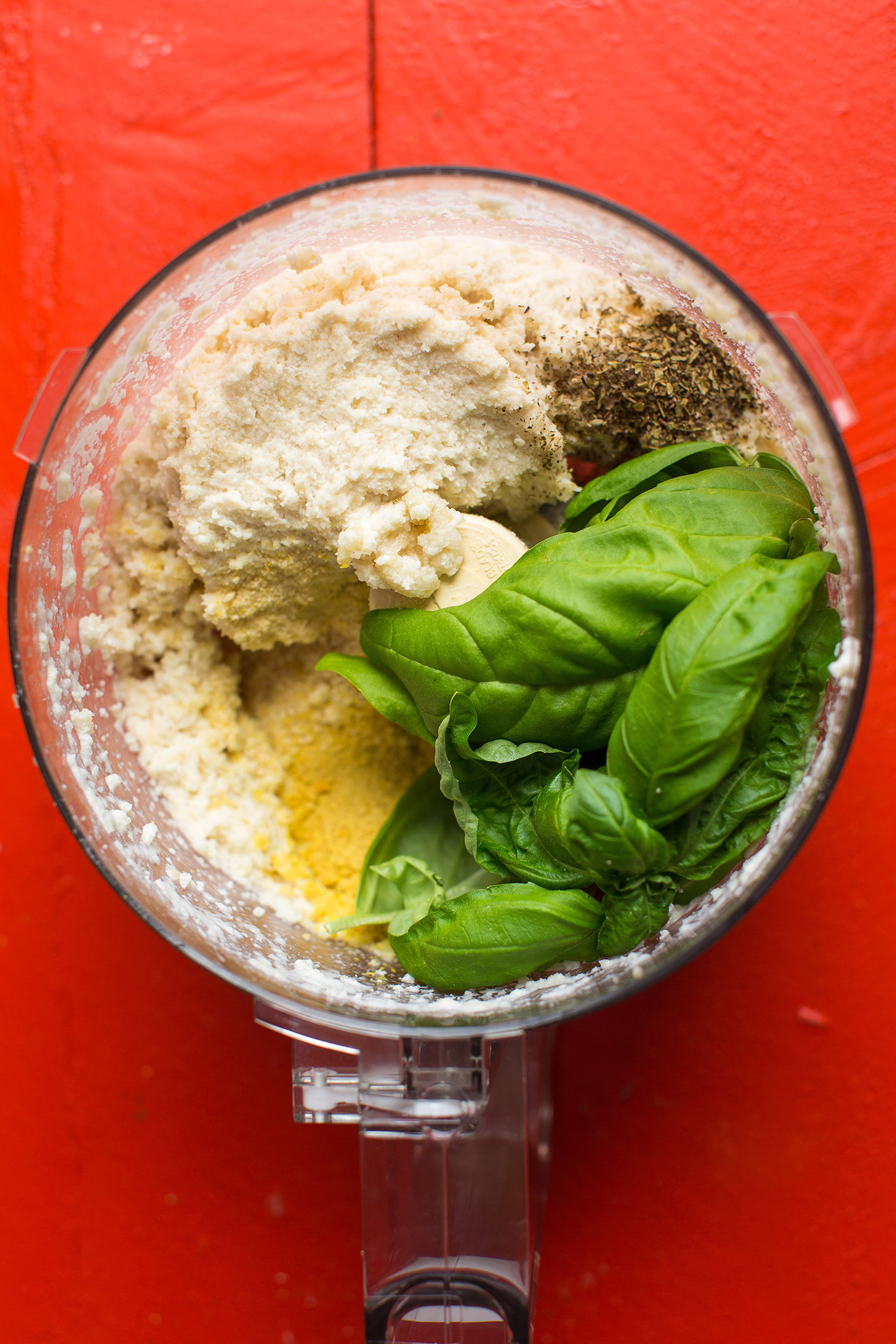 Vegan gluten free zucchini lasagna minimalist baker recipes food processor with ingredients for making our nut ricotta for vegan lasagna forumfinder