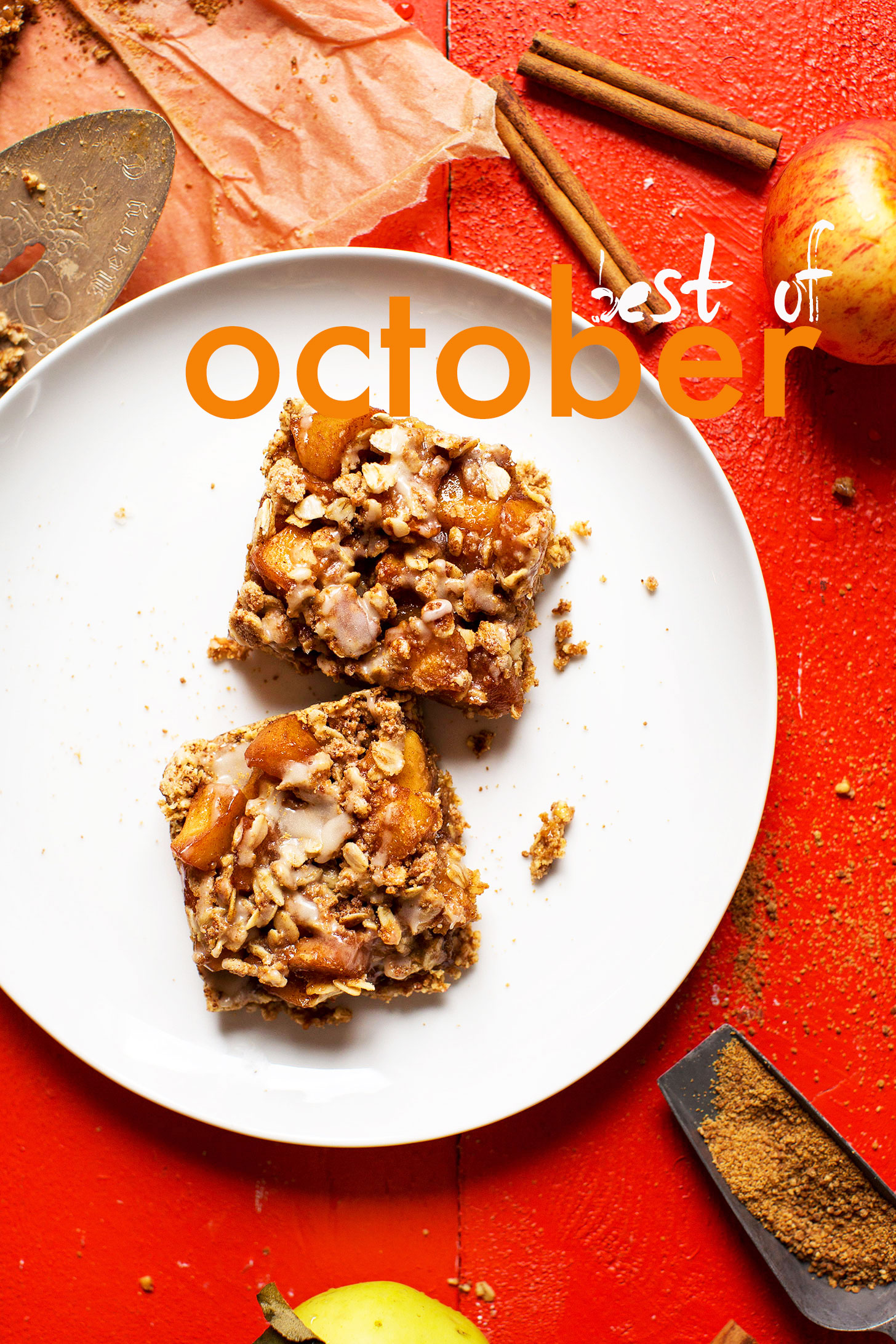 Two squares of tasty fall dessert for our best of October post