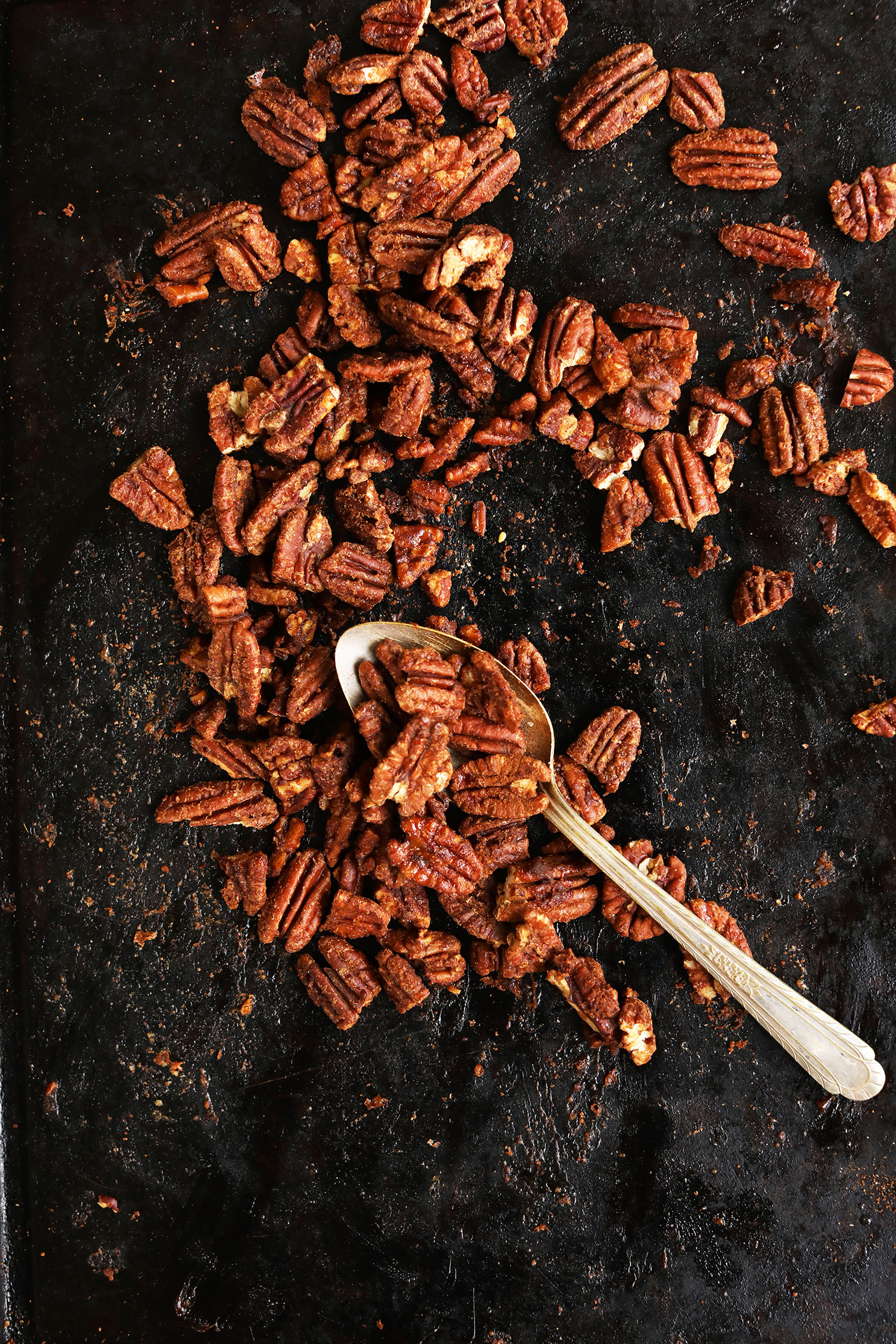 Baking sheet with Cinnamon Sugar Pecans