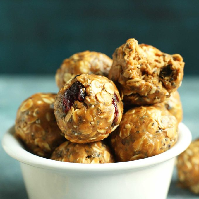 No-Bake PB & J Energy Bites