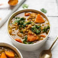 Simple Curried Lentil Veg Soup SQUARE