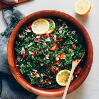 PERFECT Grain Free Tabbouleh Salad! Detoxifying, 6 ingredients, flavorful! #vegan #glutenfree #tabbouleh #salad #plantbased #recipe #minimalistbaker
