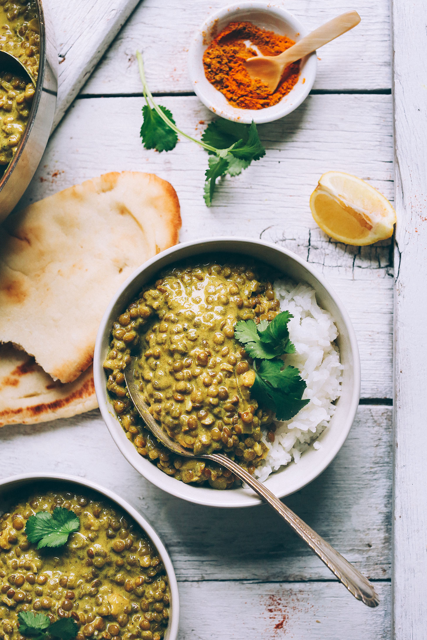 1-Pot Vegan Lentil DAL! Healthy, flavorful, TONS of protein + fiber! #vegan #glutenfree #easy #healthy #curry #lentils #recipe #dinner #minimalistbaker