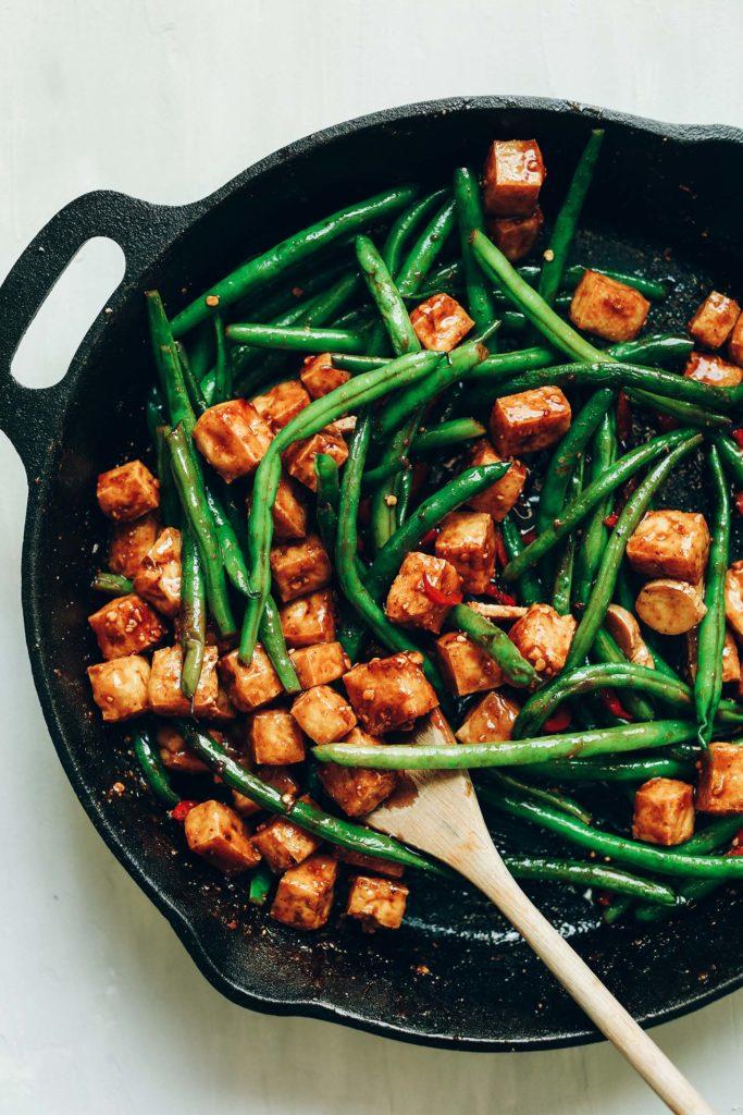 Healthy Almond Butter Tofu Stir Fry Minimalist Baker Recipes