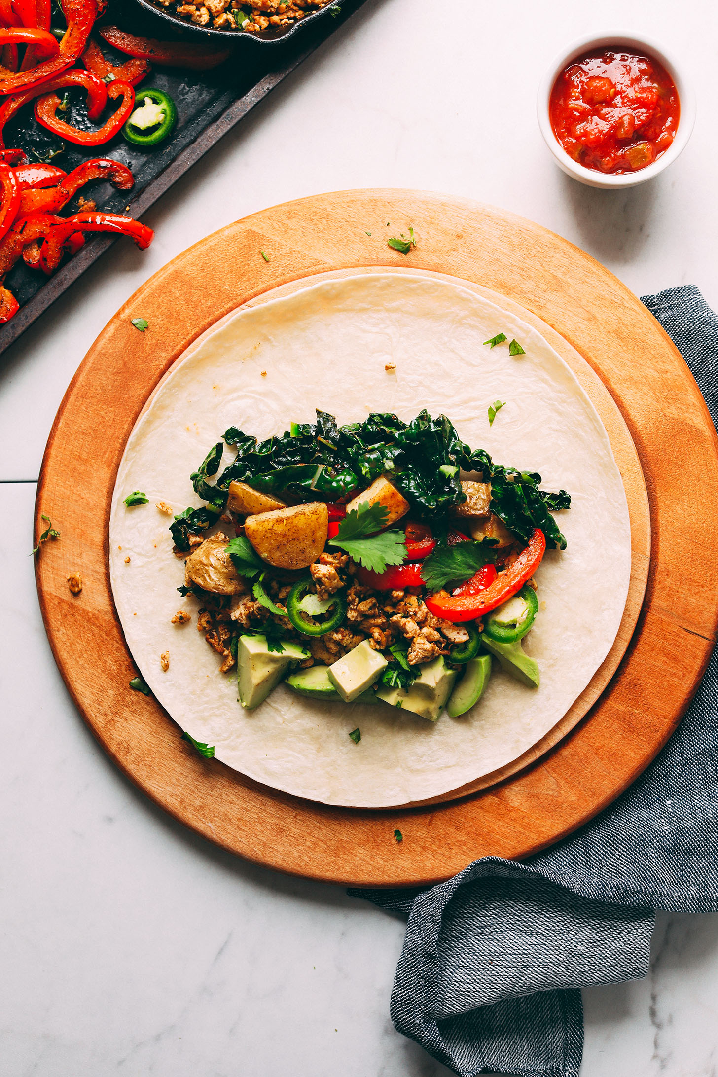 30-minute Vegan BREAKFAST BURRITO! Protein-packed, so flavorful, and EASY to make! #vegan #breakfast #burrito #plantbased #recipe #delicious #minimalistbaker