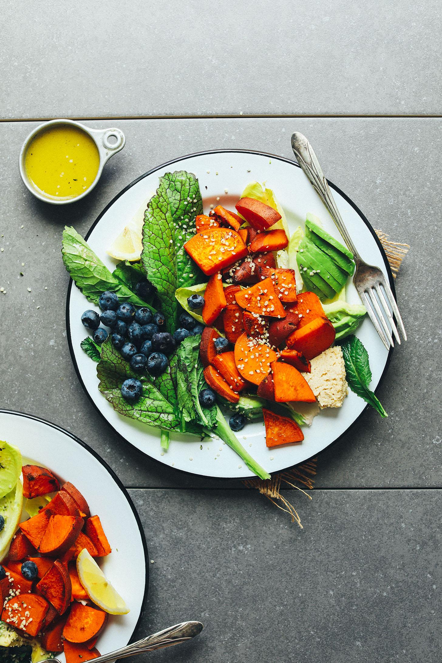 Blueberry Sweet Potato Breakfast Salad