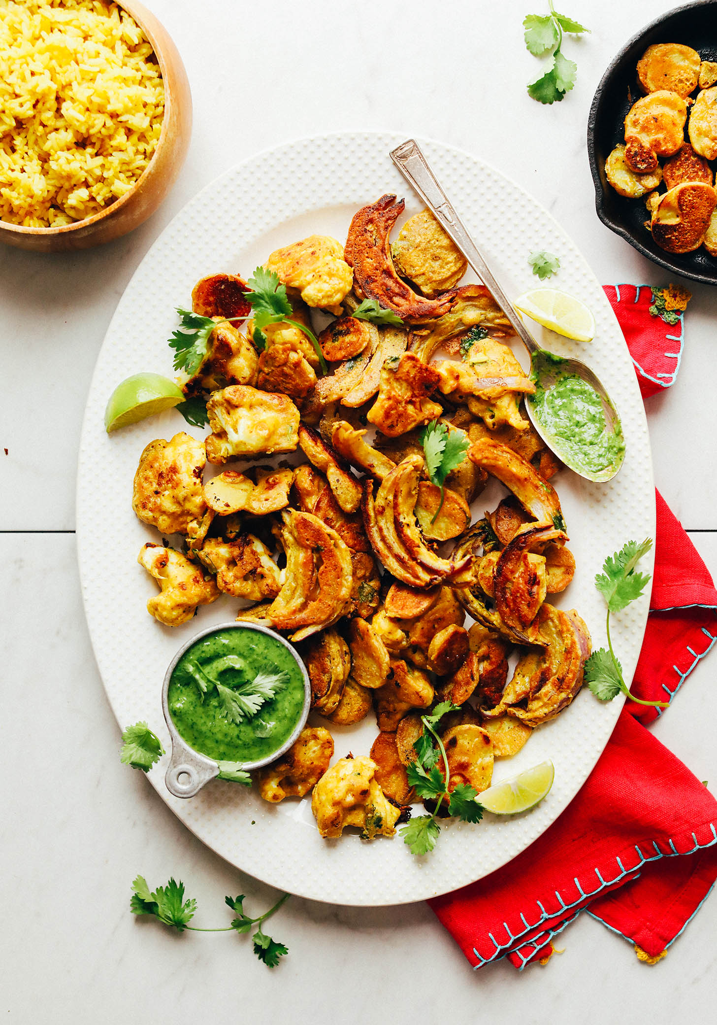 Vegetable Pakoras (Gluten-Free and Vegan!) | Minimalist ...