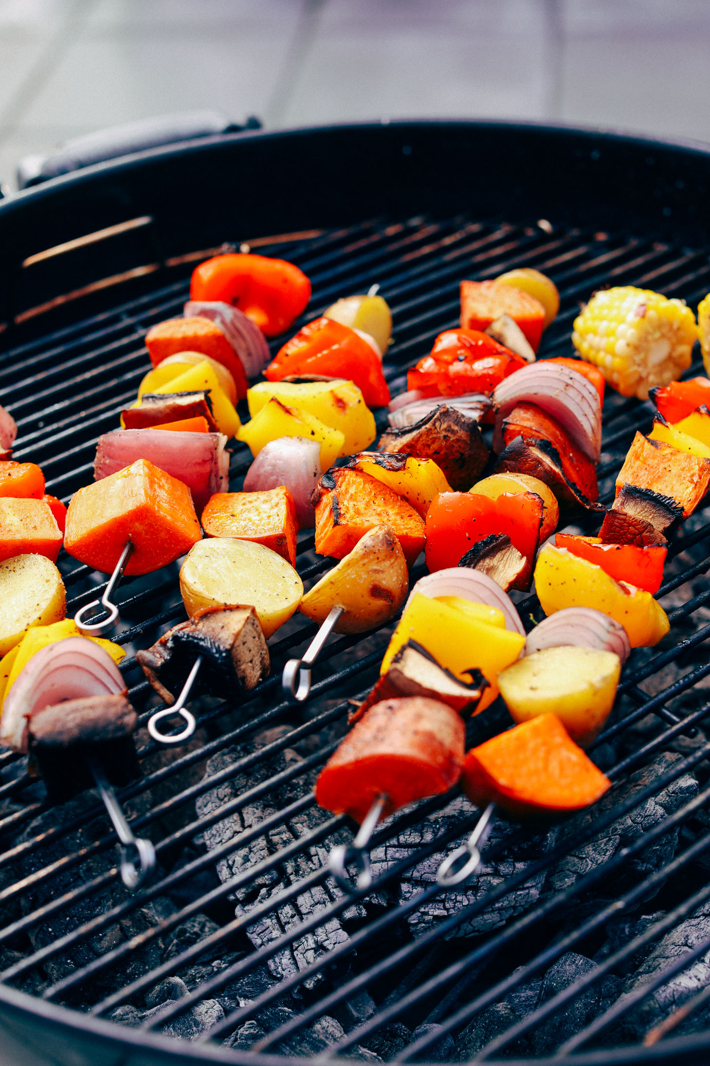 Grilled Veggie Skewers with Chimichurri Sauce | Minimalist Baker Recipes