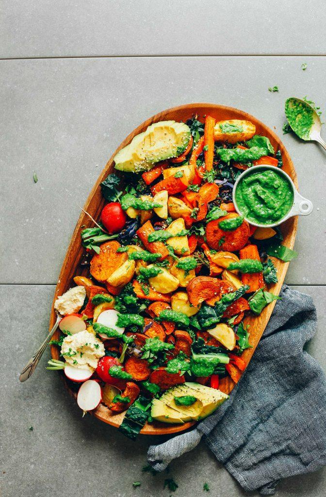 Roasted Vegetable Salad With Chimichurri Minimalist