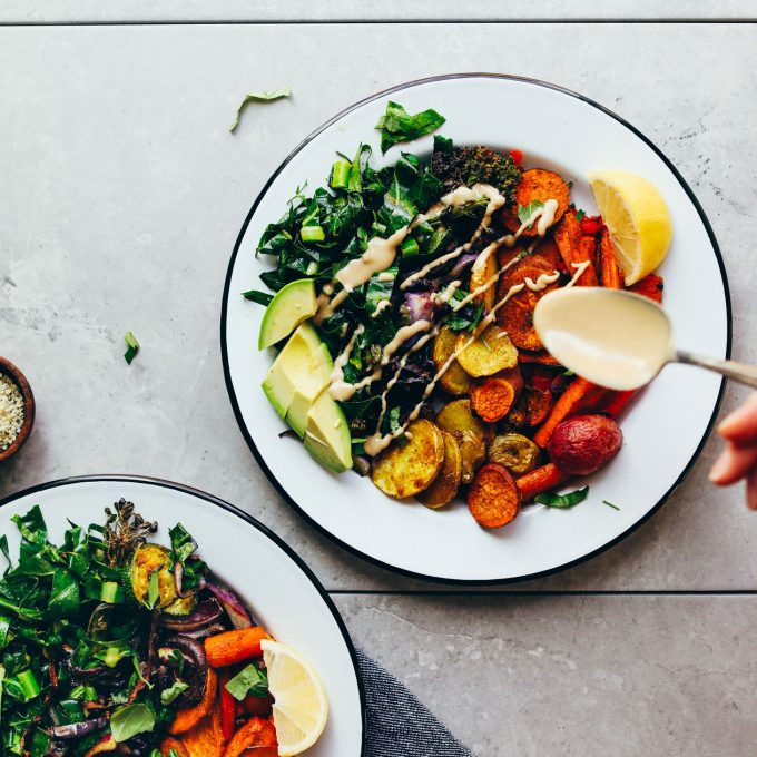 Roasted Rainbow Vegetable Bowl (30 Minutes!)