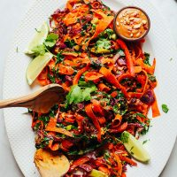 Platter filled with our incredible Noodle-Free Pad Thai recipe
