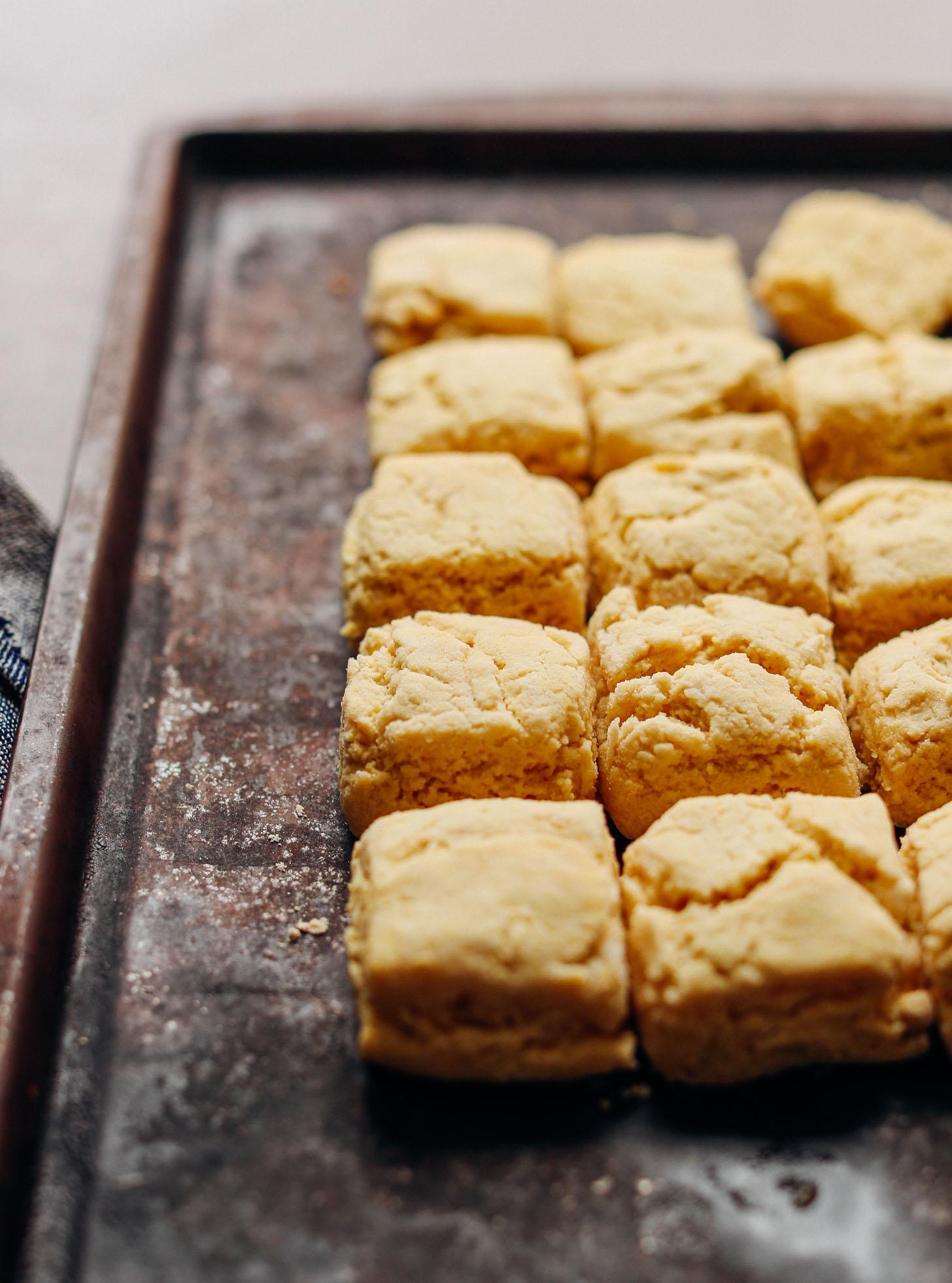 DELICIOUS Vegan Gluten-Free BISCUITS! 9 Ingredients, fluffy, TENDER! #biscuits #recipe #vegan #glutenfree #minimalistbaker