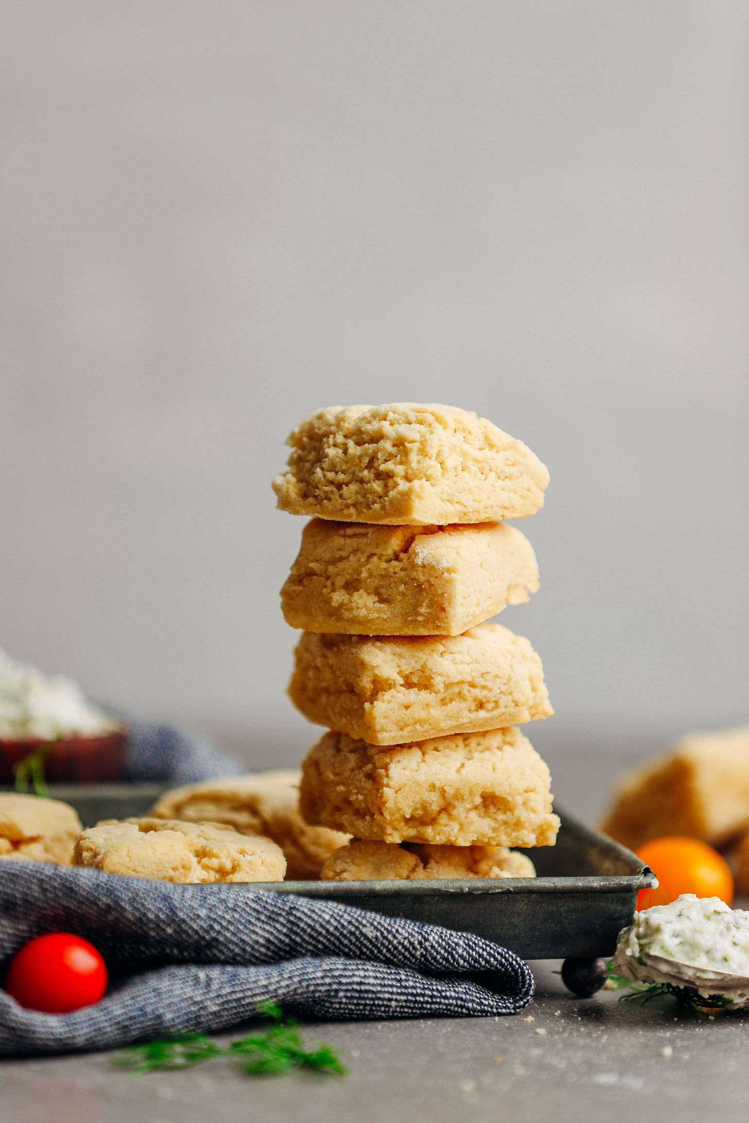 Stack of five delicious Vegan Gluten-Free Biscuits