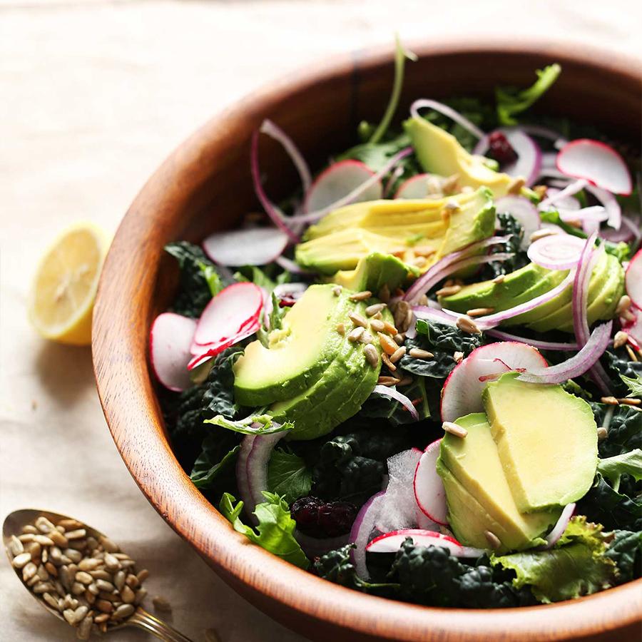 Bowl of Detox Salad for a simple Vegan Lunchbox Salad recipe