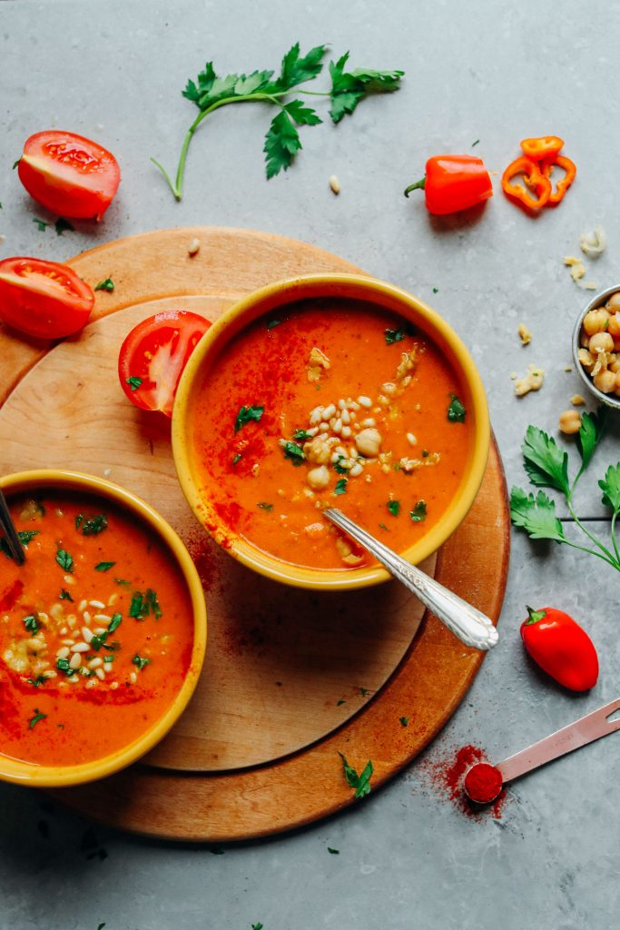 Romesco Soup With Chickpeas Minimalist Baker Recipes