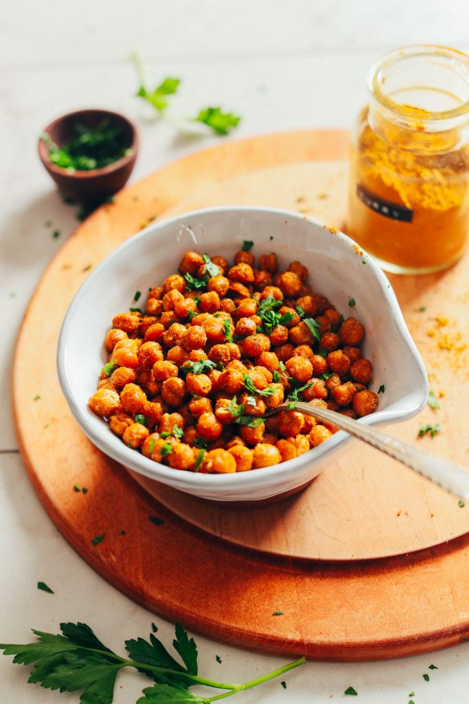 Actually Crispy Baked Chickpeas