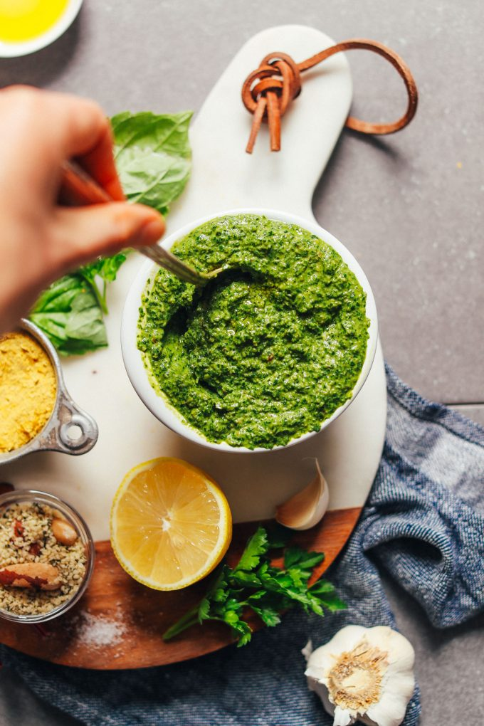Super-Green Vegan Kale Pesto