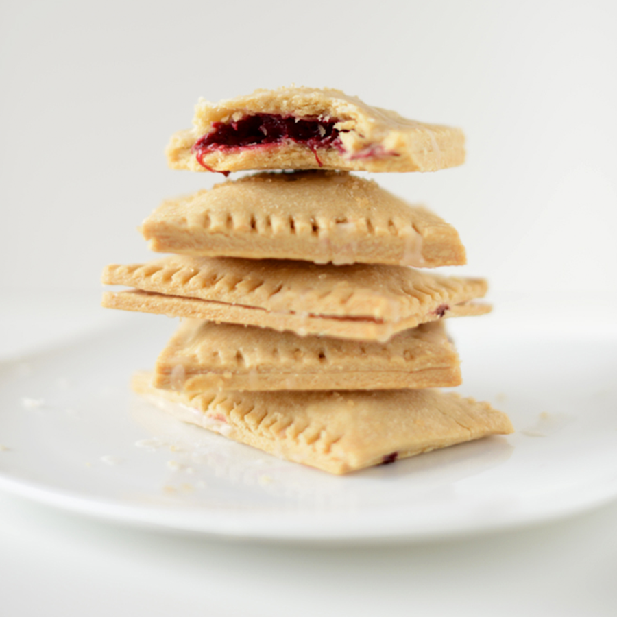 Plate piled high with a batch of our Vegan Berry Pop Tarts recipe