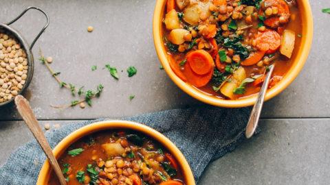 Bowls of Lentil Soup