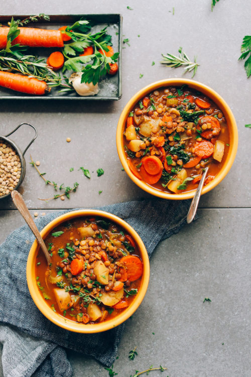 Bowls of Lentil Soup
